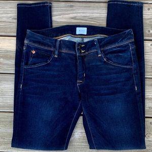 Hudson Dark wash Colin Flap Skinny Jeans. 30